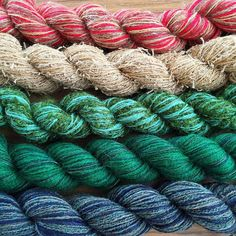 Little online shop update. :) 3 mini skein sets in pretty colours! This one is called 'The Pit'. Wool Shop, Bristol Uk, Sock Yarn, Yarns, More Fun, Sheep, Universe, Colours, Knitting