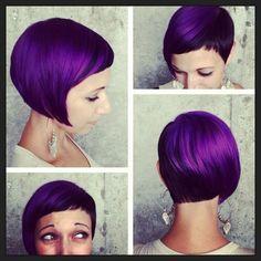 Purple pixie by Lauren Sill of Luxelab Salon, Santa Monica, CA!