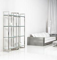 Standard measurement: 75 x 40 x 220 cm Led, Shelving, Bookcase, Luxury, Apartment Ideas, Shelf, Design, Stainless Steel, London