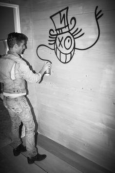 "fdmlovesmens:  chezAndré. the man behind that cartoon face.André Saraiva.Graffiti Artist and Nightlife Impresario at ""Back toSweden"" Art..."