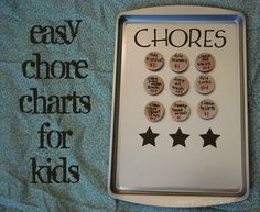 i like her chore charts and method! easy