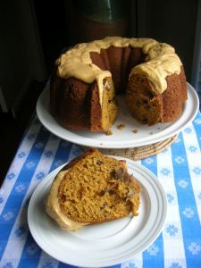 Bourbon and pumpkin spice cake (you have to scroll down this blog past many other tempting recipes for this one)