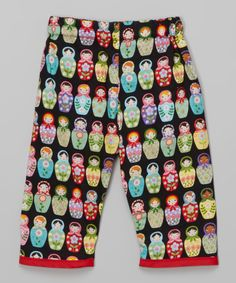 This Conscious Children's Clothing Black Matryoshka Doll Pants - Infant & Toddler by Conscious Children's Clothing is perfect! #zulilyfinds