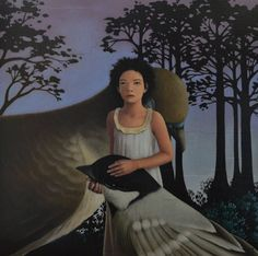 My Favorite Dream - Walking The Peaceful Land | From a unique collection of figurative paintings at https://www.1stdibs.com/art/paintings/figurative-paintings/