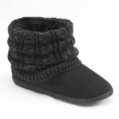 SONOMA life + style Knit Bootie Slippers