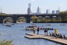 Head of the Schuylkill Regatta Visit Philadelphia, Philadelphia Sports, Rowing Photography, River Bank, Great Falls, Local Events, Get Outdoors, Outdoor Fun, Brooklyn Bridge