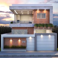 House Fence Design, 3 Storey House Design, Bungalow House Design, Facade Design, Small House Design, Modern Exterior House Designs, Modern House Facades, Modern House Design, Exterior Design