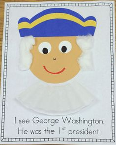 Presidents' Day/Government Craft book freebie! (with U.S. symbols)