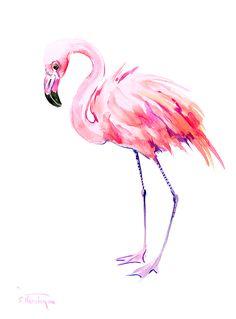 flamingo, Pink Flamingo, Pink, Minimalist, bird, bird art, Florida, Hawaii…