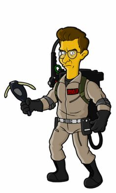 The Simpsons│ Los Simpson - - - - - - Simpsons Drawings, Simpsons Art, Ghostbusters 1984, The Real Ghostbusters, Marvel Dc, Paranormal, Simpsons Characters, Christmas Yard Art, Fun Comics