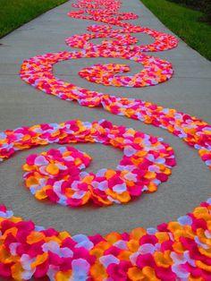 Custom Silk Rose Petal Swirl Aisle Runner by PetaleDeRose on Etsy, $200.00