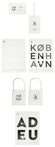 Identity program with logotype/monogram and posters for Still Light Shop, Barcelona 2009 - 2011. Design by Klas Ernflo.