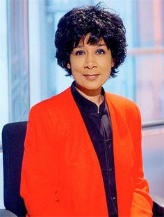 Moira Stuart - she was the first African-Caribbean female newsreader on TV.