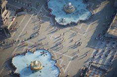 Aerial photos of London by Jason Hawkes http://www.jasonhawkes.com   :  Trafalgar Square
