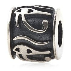Everbling Eye of Horus Egyptian Symbol of Protection, Royal Power and Good Health Authentic 925 Sterling Silver Bead Fits Pandora Chamilia Biagi Troll Charms Europen Style Bracelets  Price : $16.99 http://www.everblingjewelry.com/Everbling-Egyptian-Protection-Authentic-Bracelets/dp/B008SP3LLE