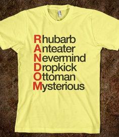 Random idea for a random T-shirt