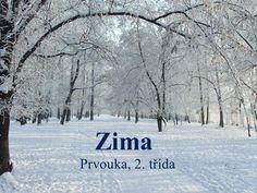 Zima Prvouka, 2. třída. Zimu tvoří měsíce: ProsinecLedenÚnor. Solitude, Places To See, Winter, Travel, Outdoor, Winter Time, Outdoors, Viajes, Destinations