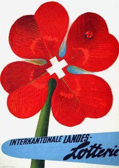 Alois Carigiet, Landeslotterie Retro Poster, Poster Ads, Art Posters, Vintage Advertisements, Vintage Ads, Simply Red, Vintage Travel Posters, Graphic Illustration, Illustrators