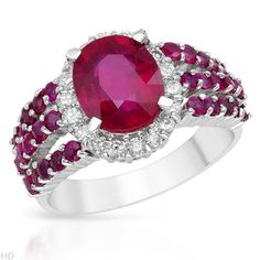 FORELI cocktail ring with rubies and diamonds. @ReinaIndy