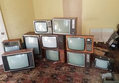 Large lot of Vintage Televisions ideal for prop work