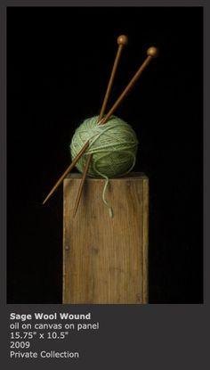 Sydney Bella Sparrow || Sage Wool Wound, oil on canvas on panel