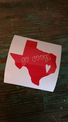 Check out this item in my Etsy shop https://www.etsy.com/listing/457881798/go-coogs-decaluniversity-of-houston