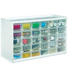 Store-In-Drawer Cabinet W/30 Transparent DrawersStore-In-Drawer Cabinet W/30 Transparent Drawers,