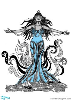 Imagem de Desenhos Para Tatuagem De Iemanja #37