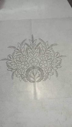 Handmade Embroidery Designs, Hand Embroidery Design Patterns, Embroidery Motifs, Silk Ribbon Embroidery, Diy Embroidery, Textile Patterns, Wreath Drawing, Pencil Design, Art Nouveau