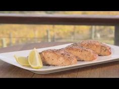 Cooking Cedar Plank Salmon on a Weber Premium Gas Barbecue Cedar Plank Salmon, Cedar Planks, Barbecue Recipes, Grilling, Dishes, Cooking, Breakfast, Easy, Music Videos