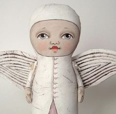 Angel Original Contemporary Folk Art Doll  by cartbeforethehorse, $100.00