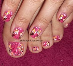 Nail Art Design - Sexy Newspaper Print and Flowers - Live tutorial