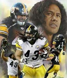 Shop for ''Troy Polamalu'' by Wishum Gregory Celebrities Art Print x 20 in. Get free delivery On EVERYTHING* Overstock - Your Online Art Gallery Store! Pittsburgh Steelers Wallpaper, Pittsburgh Steelers Players, Pittsburgh Sports, Best Football Team, Nfl Football, Football Players, American Football, Football Field, College Football