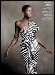 She is so elegant and classy. Best Actress in a Supporting Role, 12 Years a Slave. in Photographed by Christian MacDonald, Vogue, January 2014 Look Fashion, High Fashion, Fashion Design, Fashion Idol, Fashion Shoot, Black Is Beautiful, Beautiful People, Gorgeous Women, Gorgeous Lady