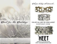 For a one-of-a-kind gift this season, create a custom piece for your loved one by choosing from a selection of SWAROVSKI crystal stones, premium leathers, #nickelfree metals or #veganfriendly textiles. Shop HEET's #designer collection at shopHEET.com. Get 15% off with code LAHEET. Custom orders email Paige@shopHEET.com #christmas #gift #jewelry #holiday #accessories #Swarovski #crystal #leather #pearl #cuff #wrap #uniquegifts #giftideas #customjewelry