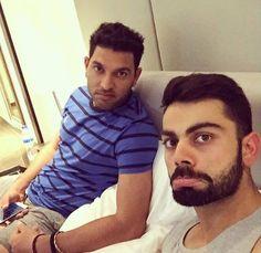 Yuvraj Singh and Virat Kohli's candid selfie moment! - http://ift.tt/1ZZ3e4d