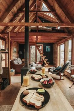 Tiny house inspiration: 12 teeny tiny houses that'll make you want to downsize - Cabin interiors - Tiny House Cabin, Tiny House Living, Tiny House Design, Cabin Homes, Tiny Houses, Small Cabin Designs, Wood House Design, Wood Houses, Living Room
