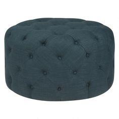 Hayes Ottoman -Oxford Stone Blue