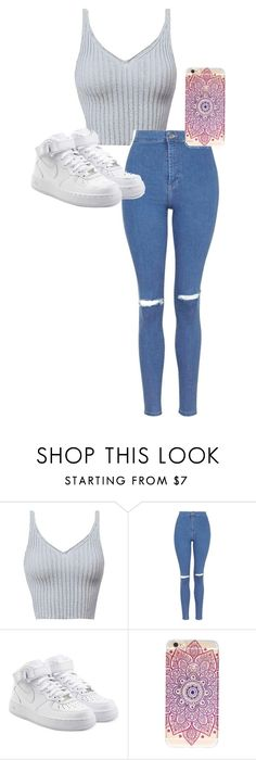 """""""./../..//..///.//.../.."""" by anna-mae-equils on Polyvore featuring Topshop and NIKE"""