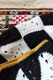 Pirjon kädenjälkiä: Harlekiinineliön ohje - Pattern for harlequin granny square