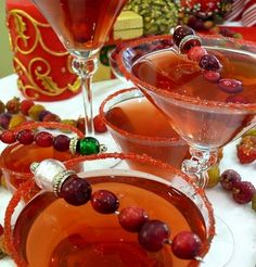 Cranberry-Spiced Martini's - another great idea from Nobel Pig. (Use the cranberry-spiced base for other drinks too.)