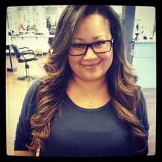 O M G! this look was a total transformation... when jacqueline came in,, she had golden brassy highlights that were very chunky! she wanted ombre! and we did it! its easy maintanence because she doesnt have to come back so often! LOVE LOVE LOVE