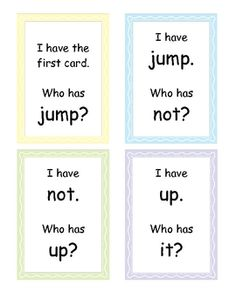 I Have, Who Has Game for sight words! (1st Grade Treasures Unit 1)