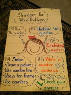 word problems -cute chart,very informative but don't circle the key words....don't do key words...teach problem types!