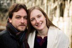 Winter Engagement Shoot in the Museum Gardens in York