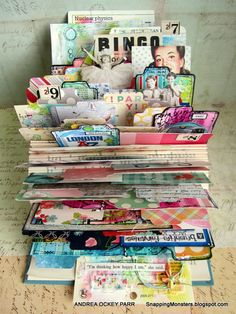 Hardcover Book Mini---fold pages of an old hardcover book to make it look like a Rolodex Mini. PHOTO TUTORIAL