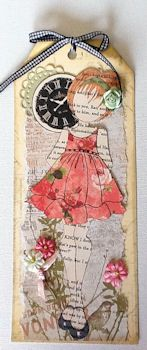 Julie Nutting Mixed Media Doll Stamp