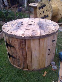 cable spool compost bin