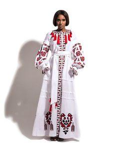 Yuliya Magdych Ukrainian beauty folk fashion