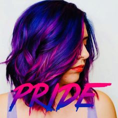 Bi Pride hair inspiration